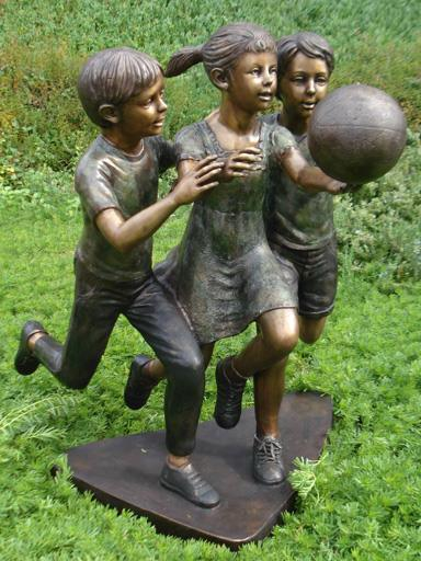Bronze Kids playing Basketball