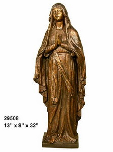 Bronze Virgin Mary Blessed Mother Statues