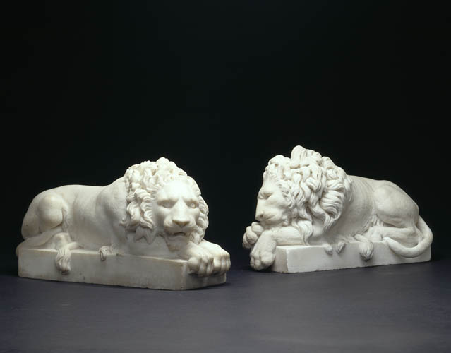 Marble Sleeping Lions