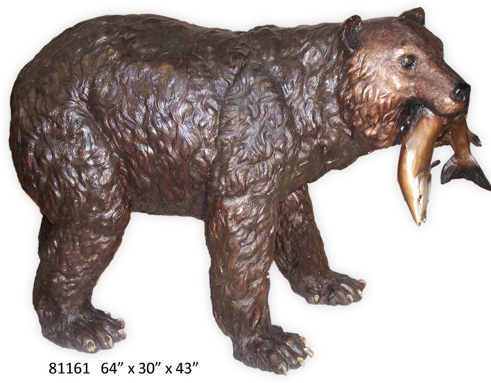 Bronze Bear with Fish