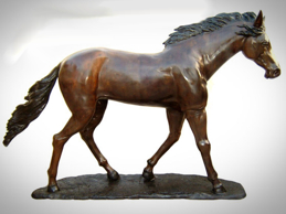 Bronze Walking Horse Statue