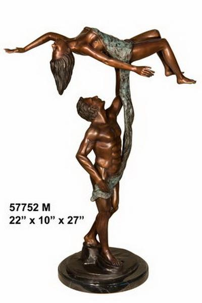 Bronze Man and Woman Dancing