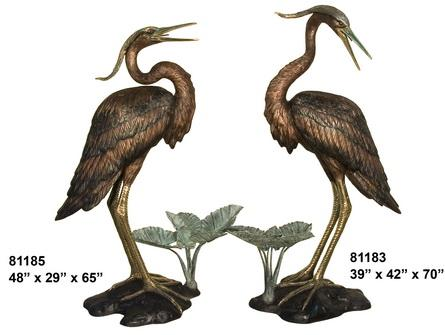 Bronze Crane Looking Right/Left