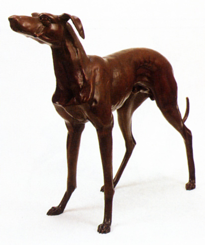Bronze Greyhound Statues