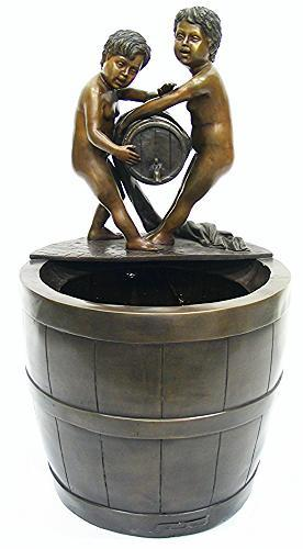 Bronze Children Standing on Tank