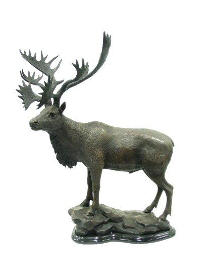 Moose on Marble Base