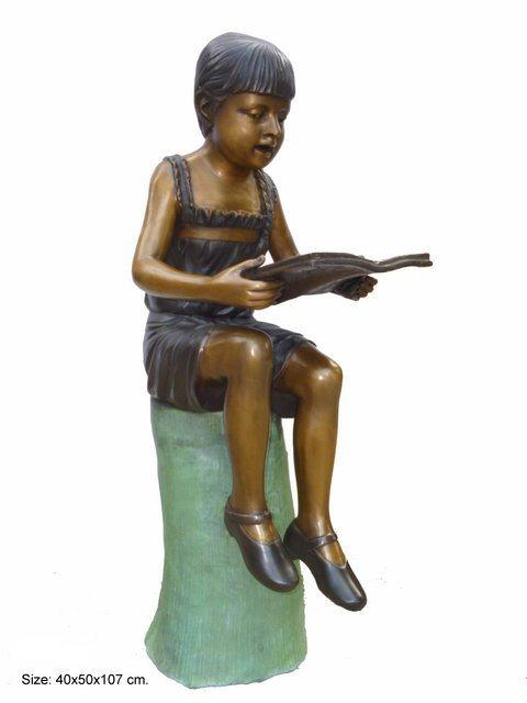 Sitting Girl Reading Book