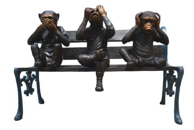 3 Monkeys on Bench