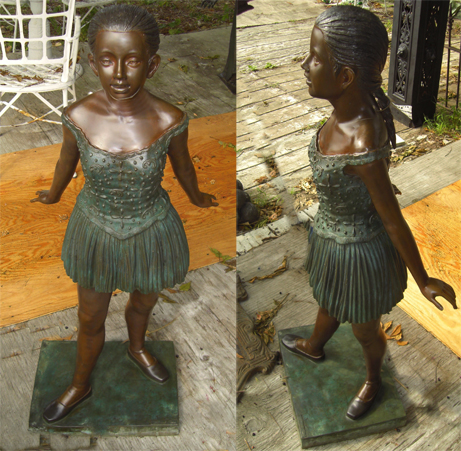 Bronze Edgar Degas Ballet Dancer Sculpture