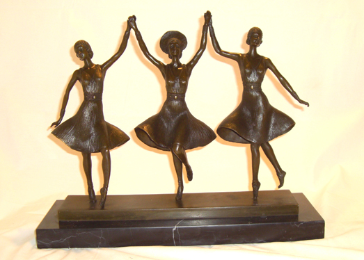 Bronze Three Dancer