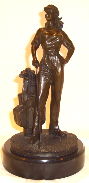 Bronze Lady Golfer