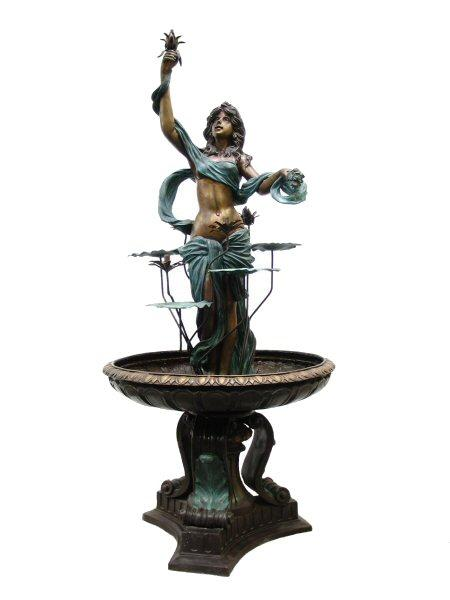 Lady with Lotus Fountain