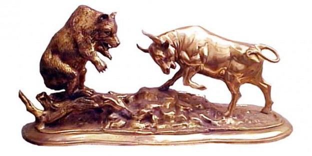 Bear Fighting Bull Bear Fighting Bull D 0159k