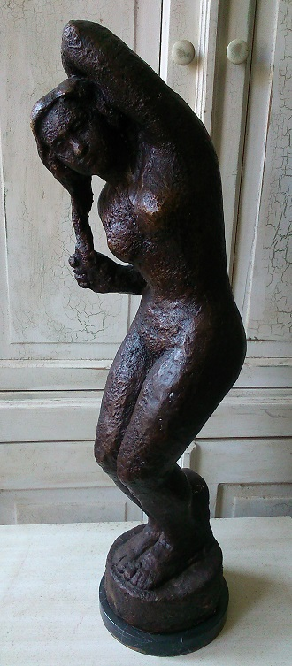Bronze Nude Woman Sculpture