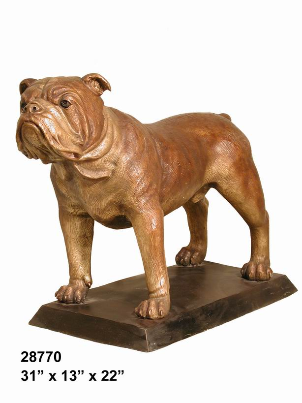 Bronze Bulldog with Base