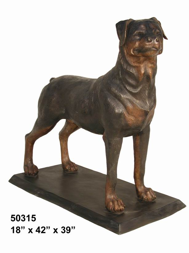 bronze rottweiler. Black Bedroom Furniture Sets. Home Design Ideas