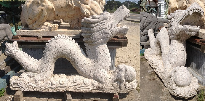 Granite Dragon Statue