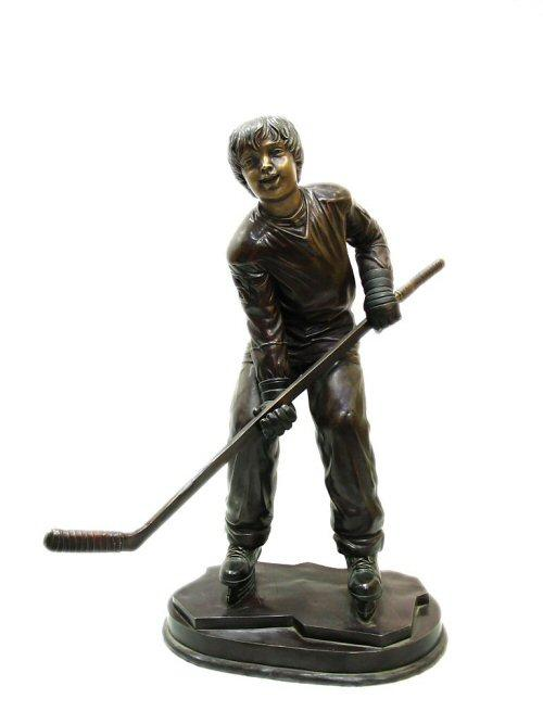 Bronze Ice Hockey Boy