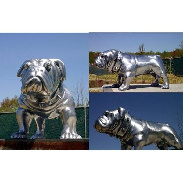 Silver Patina Finish Bulldog