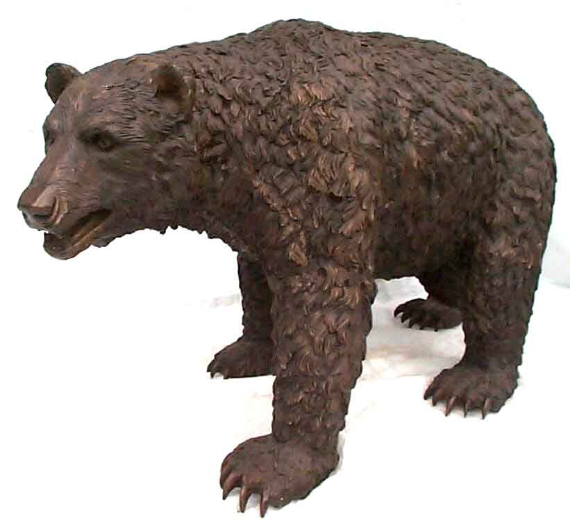Bronze Walking Bear