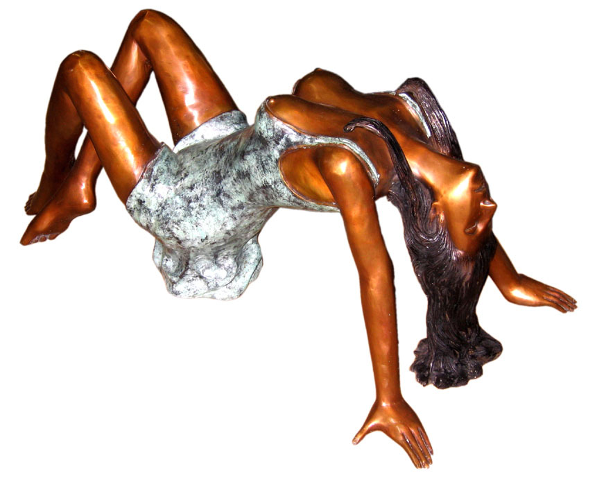 Bronze Woman Table Base