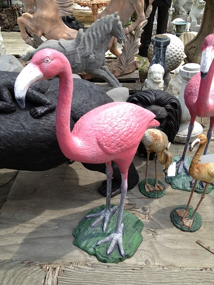 Cast Iron Flamingo