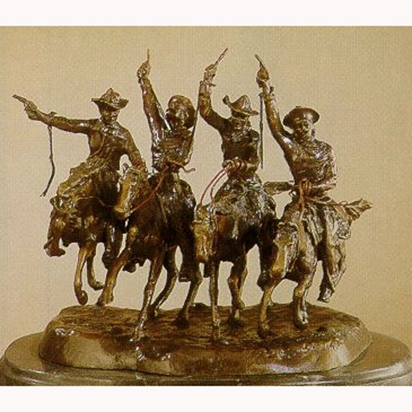 Bronze Coming Thru the Rye (original size by Fredric Remington)