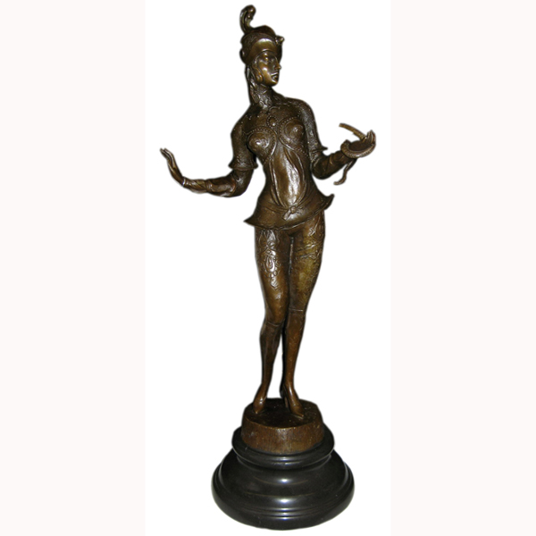 Bronze Deco Girl
