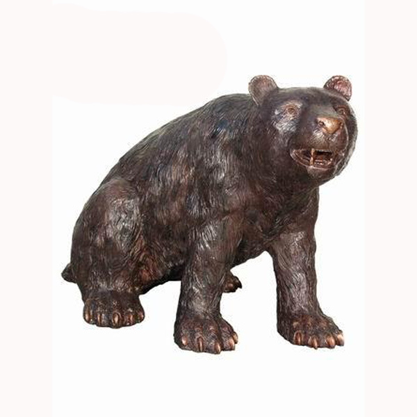Bronze Sitting Bear