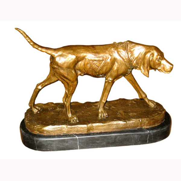 Bronze Bloodhound with Mable Base
