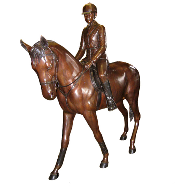 Bronze Young Girl riding a Pony