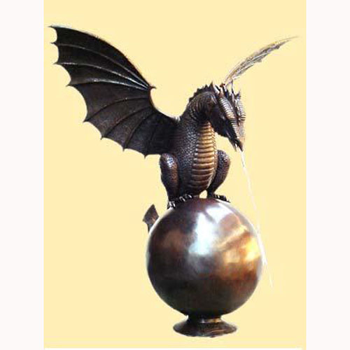 Bronze Dragon on Ball