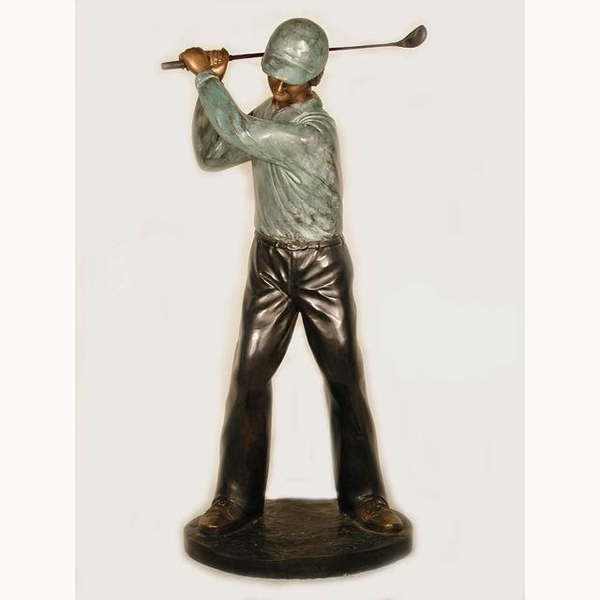 Bronze Golfer - Backswing