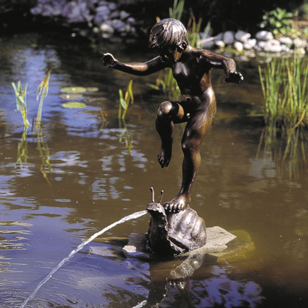 Bronze Boy on Snail Fountain