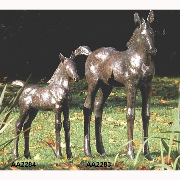 Bronze Colt Foal Baby Horse