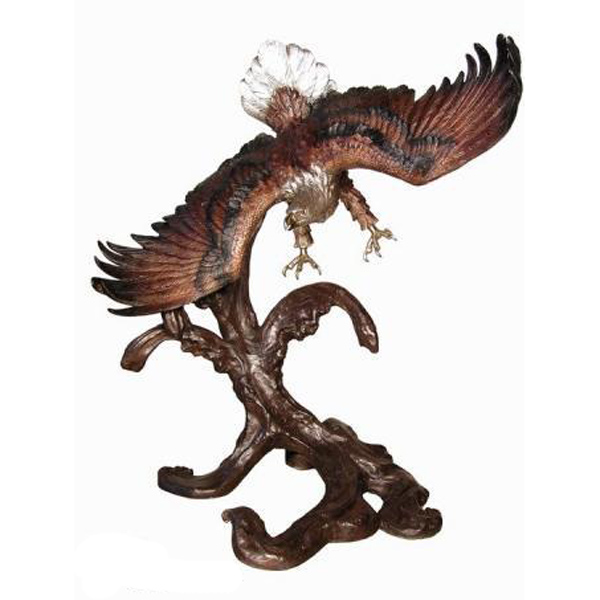 Bronze Eagle Flying from Tree