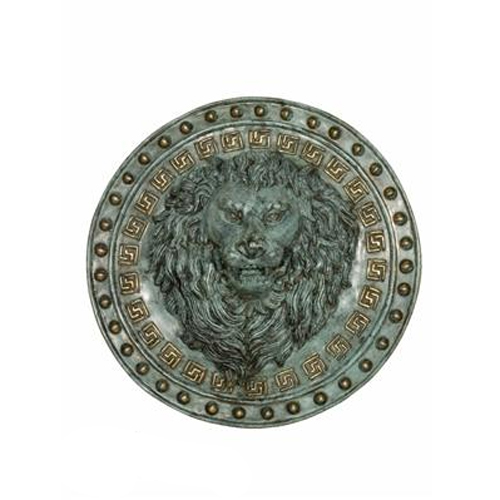 "Bronze Pair of 19"" Lion's Head Wall Fountains"
