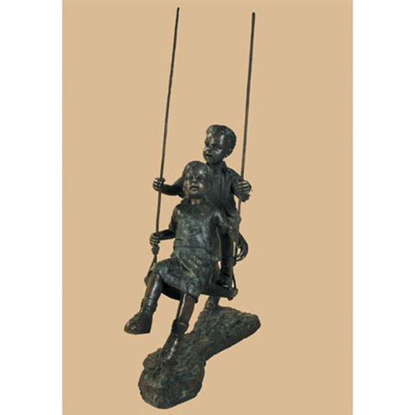 Bronze Children Swinging