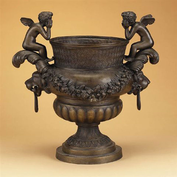 Bronze Urn with Cupids