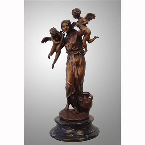Bronze Female with Cupid