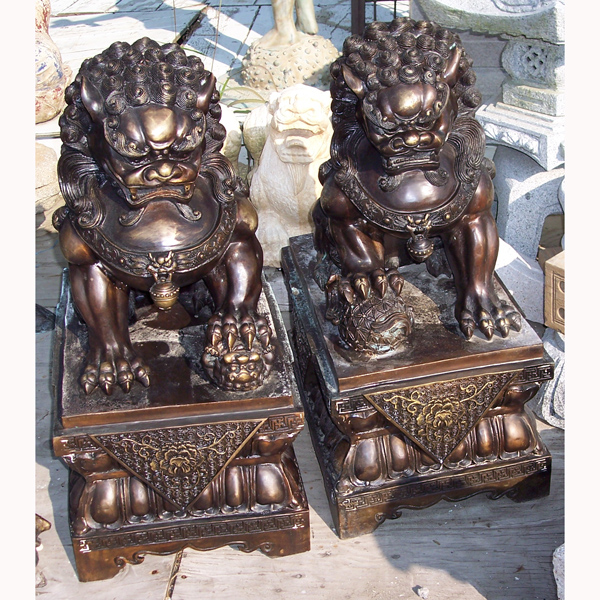 Bronze Foo Dogs ( pair )