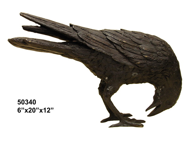 Bronze Raven in the Pecking position
