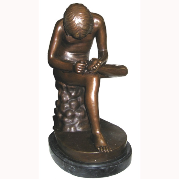 Bronze sitting Boy
