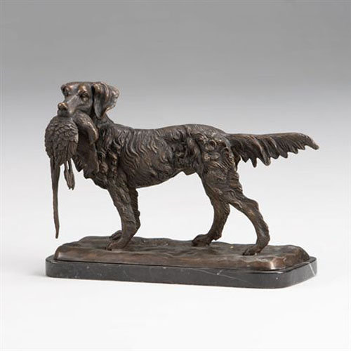 Bronze Hunting Dog