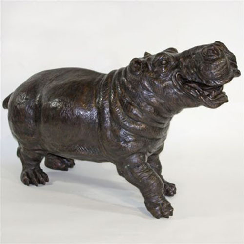 Bronze Hippo Fountain