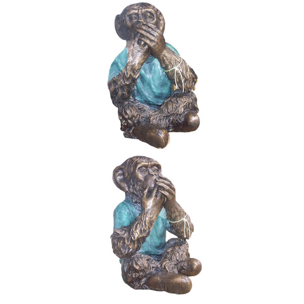 "Bronze Monkey ""Speak No Evil"""