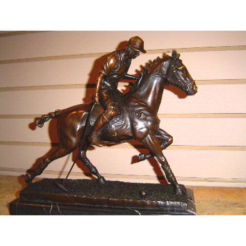 Bronze Polo Player
