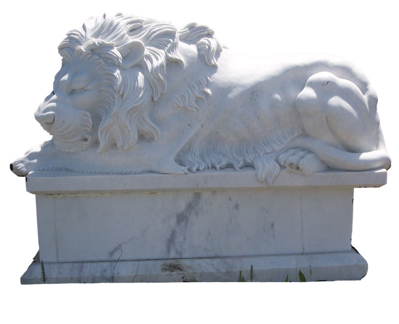 Marble Sleeping Lion
