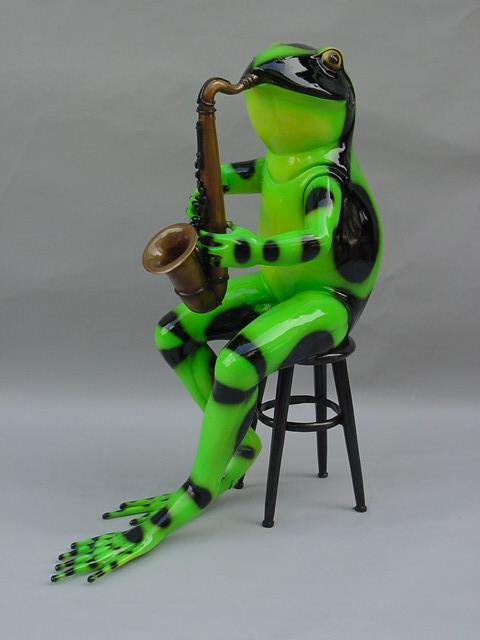 Frog with Saxophone